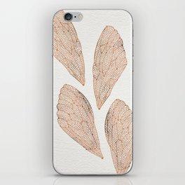 Cicada Wings in Rose Gold iPhone Skin