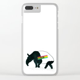 Tapir / Tape Here Clear iPhone Case