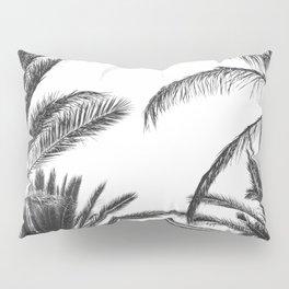 Palm Trees B&W Pillow Sham