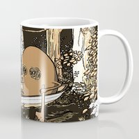 rowing Mugs featuring Forest Rowing by Emily Joan Campbell