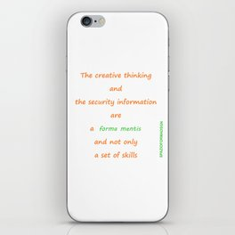 Forma mentis iPhone Skin