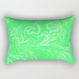 Neon green abstract Rectangular Pillow