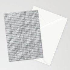 Crumpled Lined Paper Stationery Cards
