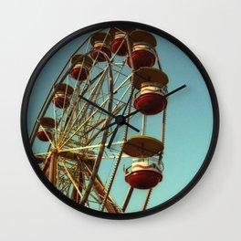 Carnival Ferris Wheel & Flags Wall Clock