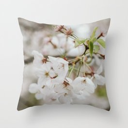 Japanese Cherry Flower Printable Wall Art | Floral Plant Botanical Nature Outdoors Macro Photography Print Throw Pillow