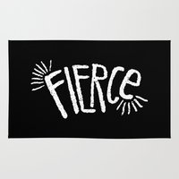 fierce Area & Throw Rugs featuring Fierce! by Leiah