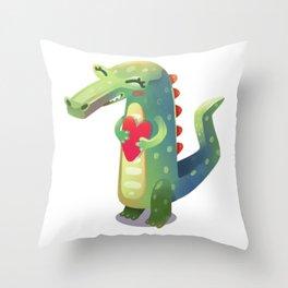 Croco love Throw Pillow