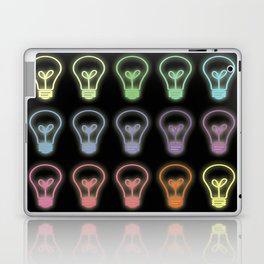 Colorful neon lightbulbs Laptop & iPad Skin