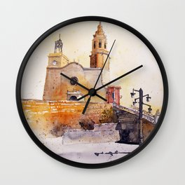 akwarelka 74 Wall Clock