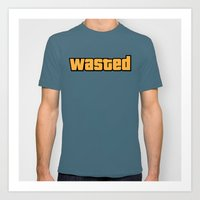 wasted rita Art Prints featuring Wasted by D-fens