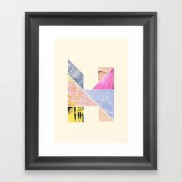 Collaged Tangram Alphabet - H Framed Art Print