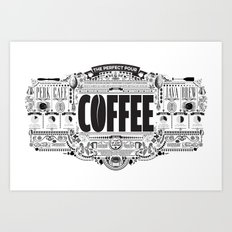 Coffee infographic poster Art Print