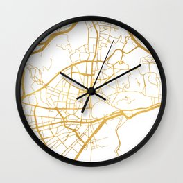 MALAGA SPAIN CITY STREET MAP ART Wall Clock
