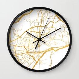 MALAGA SPAIN CITY STREET MAP ART Wall Clock