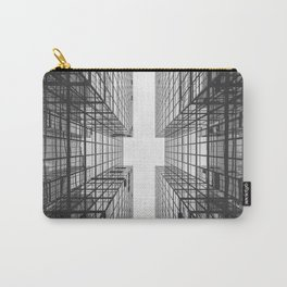 Black and White Skyscraper Carry-All Pouch