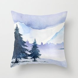 Winter scenery #1 Throw Pillow