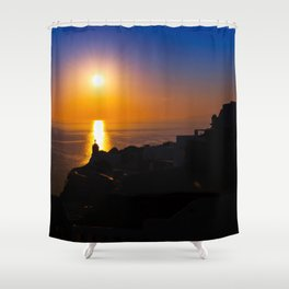 Oia sunset i Shower Curtain
