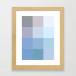 BLOCKS - BLUE TONES - 1 Framed Art Print