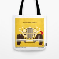 fitzgerald Tote Bags featuring No206 My The Great Gatsby minimal movie poster by Chungkong