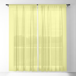 From The Crayon Box – Laser Lemon Yellow - Bright Yellow Solid Color Sheer Curtain