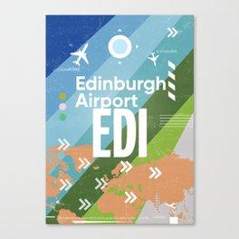 EDI Edinburgh airport code vers2 Canvas Print