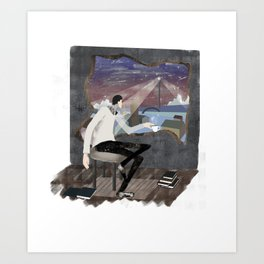 Caffee, Books and Solitude Art Print