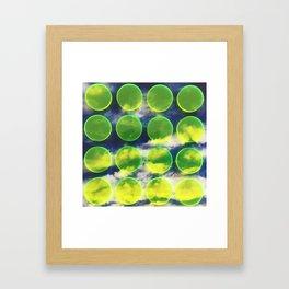 yellow polka dots sky Framed Art Print