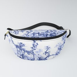 Blue Chinoiserie Toile Fanny Pack