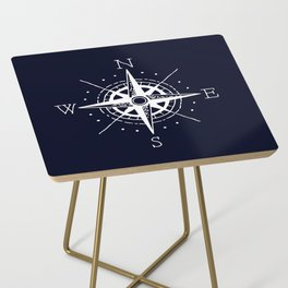 Navy Nautical - White Compass Side Table