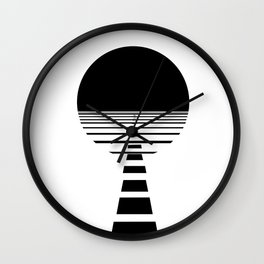 BLACK DAWN Wall Clock