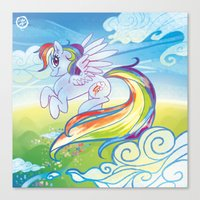 mlp Canvas Prints featuring Rainbow Dash - MLP by mmishee