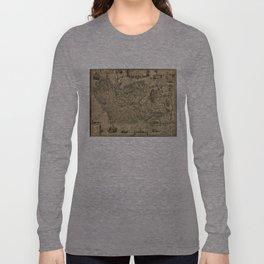Vintage Map of Ireland (1606) Long Sleeve T-shirt