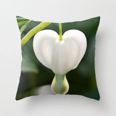 Lone white heart Throw Pillow