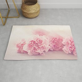 Pale Pink Carnations 4 Rug