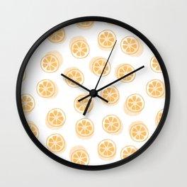 Kumquat Pattern Wall Clock