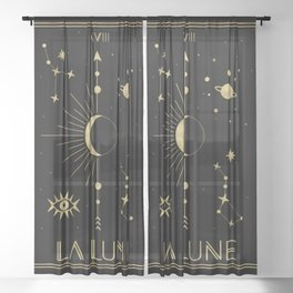 The Moon or La Lune Gold Edition Sheer Curtain