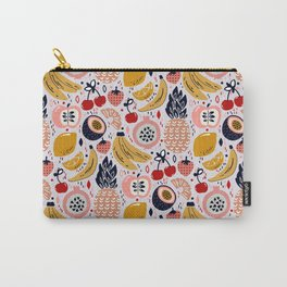 Pastel Fresh Funky Fruit Carry-All Pouch
