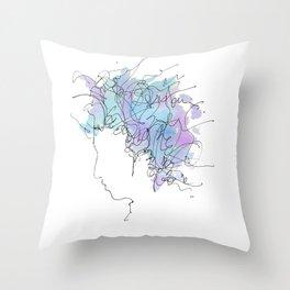 Bob Dylan/Watercolor Throw Pillow