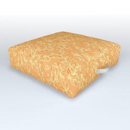 Orange Floral Pattern Outdoor Floor Cushion