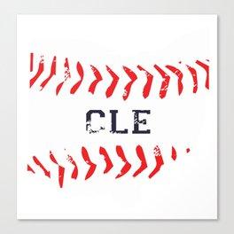 Distressed Cleveland Baseball Shirt Cleveland Ohio Canvas Print