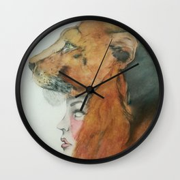 The Wild in Us Wall Clock