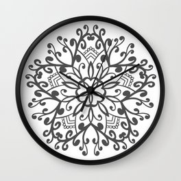 A Beautiful Star with a Pattern style Fashion Modern Design Print! Wall Clock