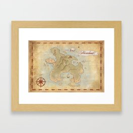 Map of Neverland Framed Art Print