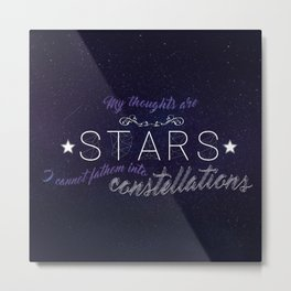 My Thoughts Are Stars - TFIOS Metal Print