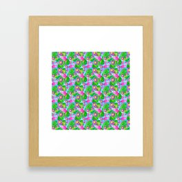 Aloha! Flamingo pattern Framed Art Print