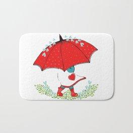 Summer Rain Drops Bath Mat