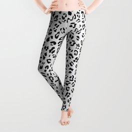 Inky Black Leopard Spots Leggings