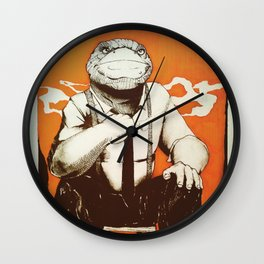 Detective Frog Wall Clock