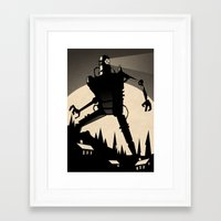 iron giant Framed Art Prints featuring 'Iron Giant' by Stone Adrian