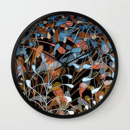 Newborn leaves Wall Clock